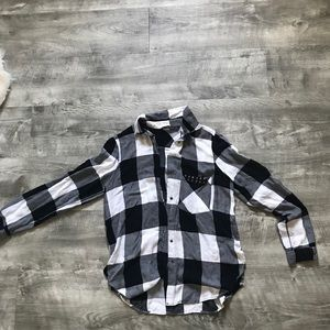Zara plaid button down shirt